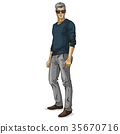 human male vector 35670716