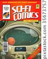 Comic Scifi Book Cover Template 35673757