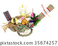 treasure ship, sacred straw ropes, straw festoon 35674257