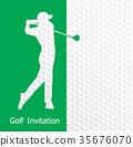 Golf invitation flyer template graphic design 35676070