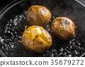 土豆 馬鈴薯 石發射 35679272