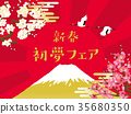 new year, start of spring, year's first dream 35680350