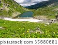 View of Karakol lakes in Altai Republic. Russia 35680681