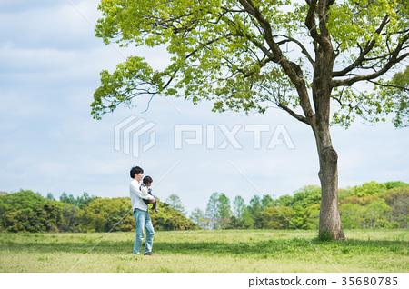 parenthood, parent and child, park 35680785