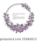 Flower frame of rose. 35680813