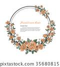 Flower frame of rose. 35680815