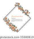 Flower frame of rose. 35680819