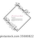 Flower frame of rose. 35680822