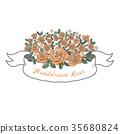 Flower ribbon of rose. 35680824