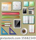 筆 鉛筆 筆記本 35682349