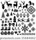 กวางเรนเดียร์,ซานต้า,ฤดูหนาว 35684662