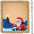 Santa Claus subject parchment 1 35685967