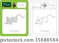 mouse, letters, education 35686564