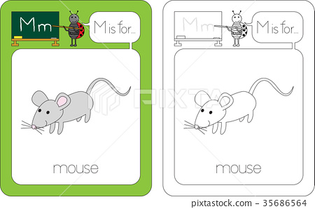 Flashcard letter M 35686564