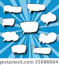 Set of Speech Bubbles ,Pop Art Background 35686664