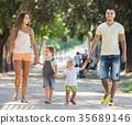 happy, family, holding 35689146