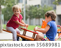 Children having fun at playground 35689981