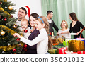 Big family celebrating Xmas 35691012