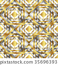 Seamless overlapping elements geometric pattern 35696393