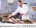 man, fish, gilthead 35696606
