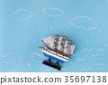 ship storm sea 35697138