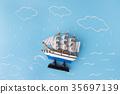 ship storm sea 35697139