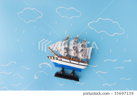 ship model in a storm 35697139