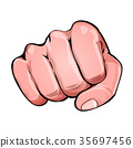 Comic Power Fist Punching 35697456