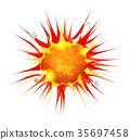 explosion, burst, comic 35697458