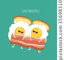 food, egg, vector 35698310