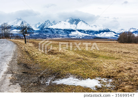 Lomnicky peak from Velka Lomnica, High Tatras 35699547