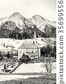 church, cemetery, mountain 35699556