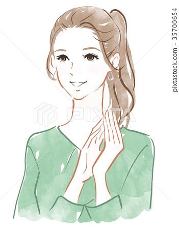 我很滿意女性的面部表情和姿勢 35700654