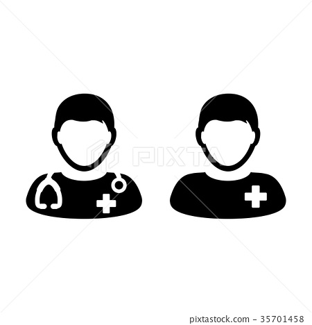 Doctor Icon Vector Patient Medical Consultation 35701458
