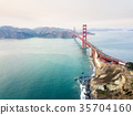 Golden Gate bridge aerial view 35704160