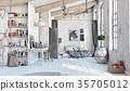 Scandinavian  Bedroom interior 35705012