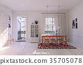 dining, interior, modern 35705078