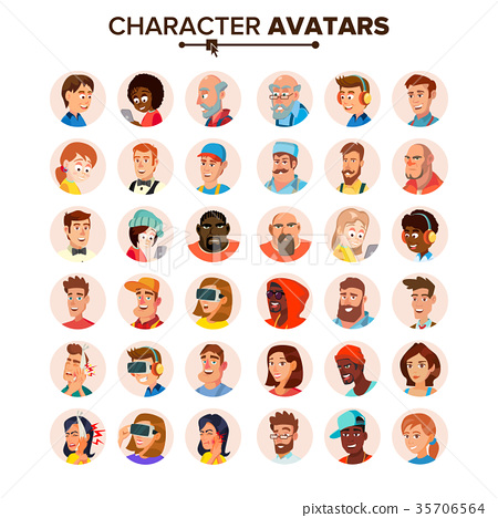 People Avatars Collection Vector. Default 35706564