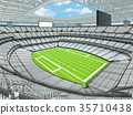 Modern American football Stadium with white seats 35710438