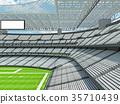 Modern American football Stadium with white seats 35710439