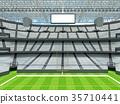 Modern American football Stadium with white seats 35710441