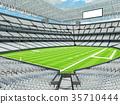 Modern American football Stadium with white seats 35710444