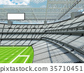 Modern American football Stadium with white seats 35710451