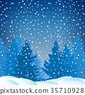 雪 降雪 矢量 35710928