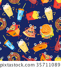food, pattern, vector 35711089
