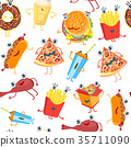 food, pattern, vector 35711090