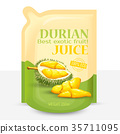 Packing for juice from exotic durian fruit, 35711095
