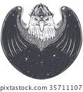 eagle, bird, vector 35711107