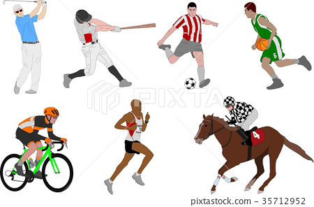 Various sports detailed illustration 35712952