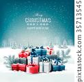 vector, christmas, gift 35713545